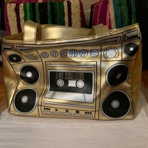 Beyonce Gold I am Sasha Fierce Tour Bag Zip Tote